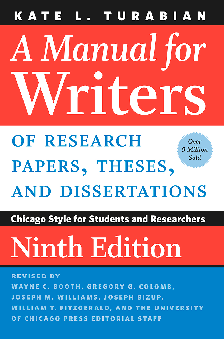 Turabian a manual for writers of research papers pdf
