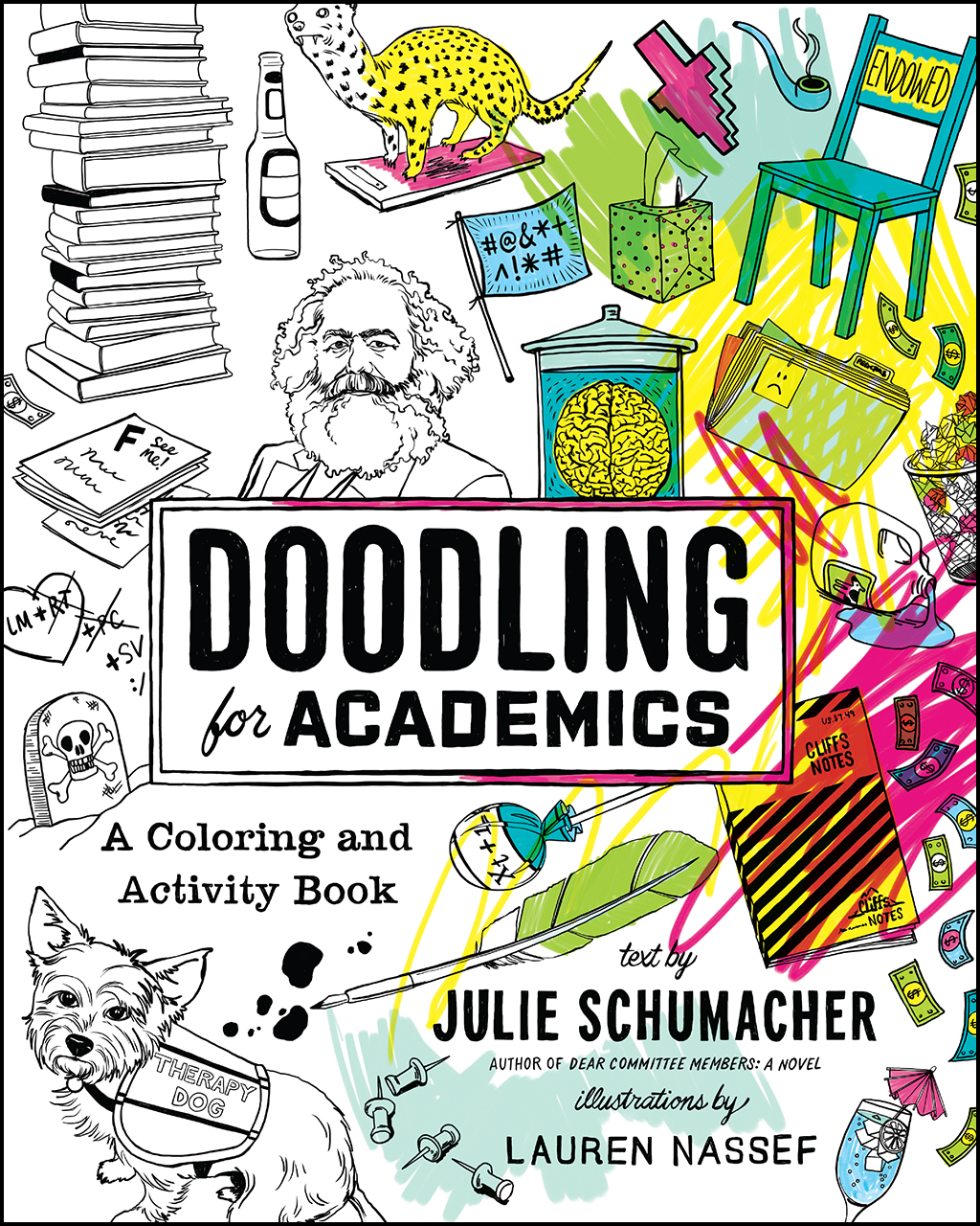 a coloring and activity book julie schumacher doodling for academics addthis sharing buttons