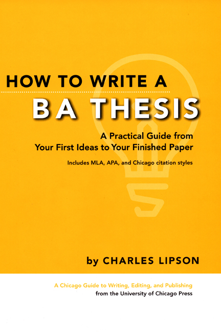 Turabian Citation Guide How To Write A Ba Thesis