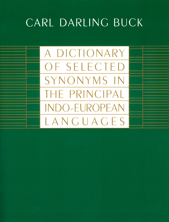 A Dictionary of Selected Synonyms in the Principal Indo