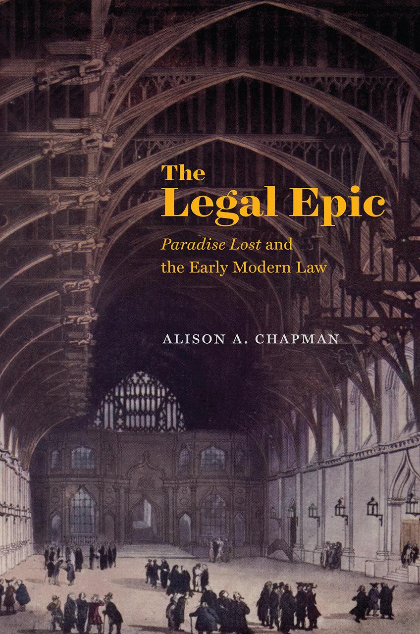 The Legal Epic Quot Paradise Lost Quot And The Early Modern Law border=