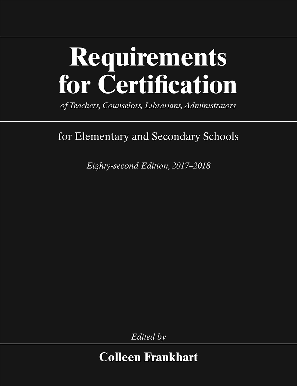 Requirements For Certification Of Teachers Counselors Librarians