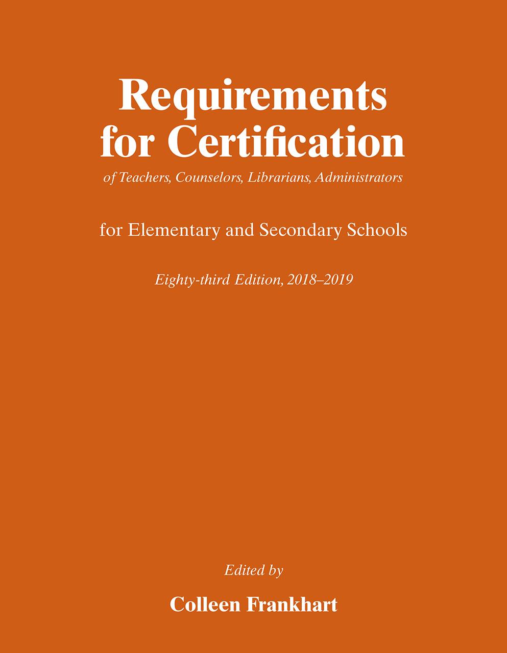 Certification of teachers in 2019 1