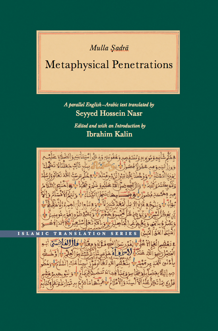 Metaphysical Penetrations A Parallel English Arabic Text