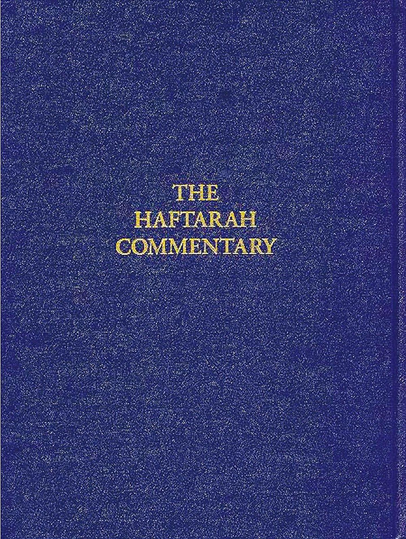 Haftarah Commentary