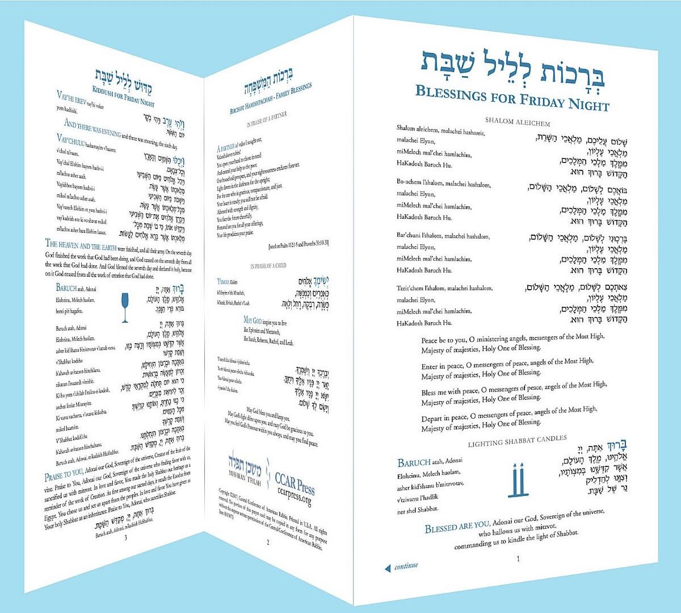 Shabbat Table Card
