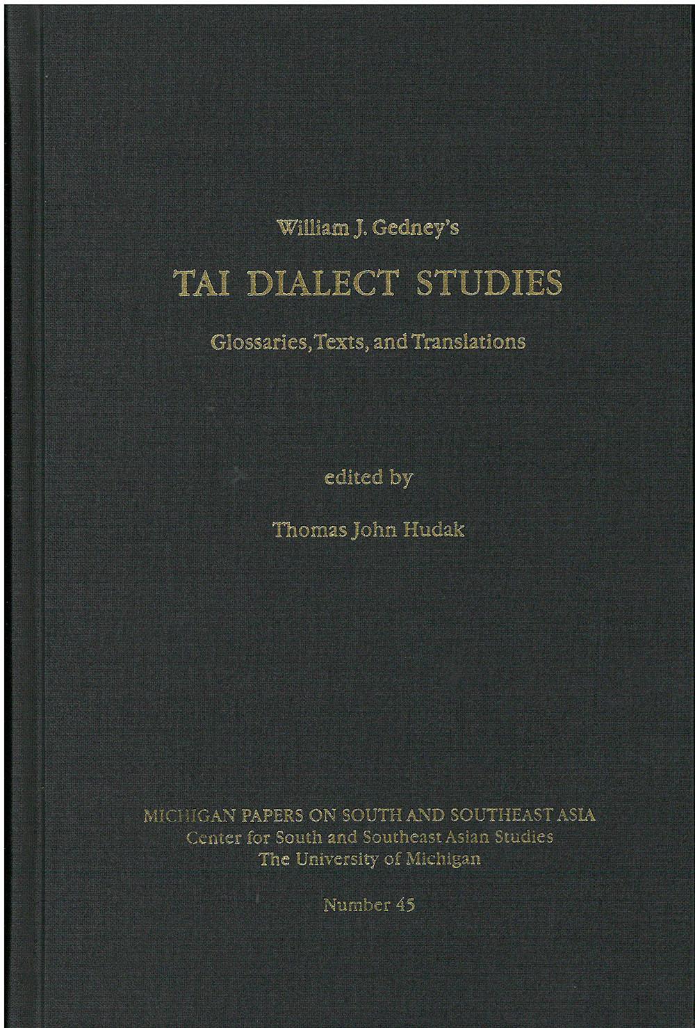 Tai Dialect Studies