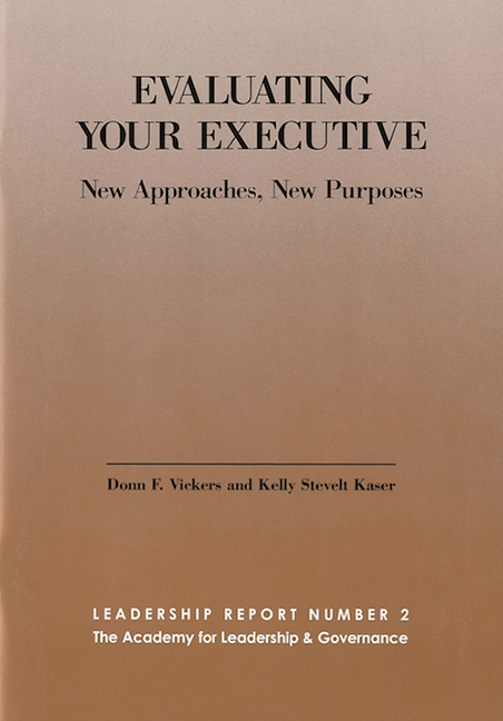 Evaluating Your Executive