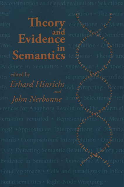 theory and evidence in semantics hinrichs nerbonne